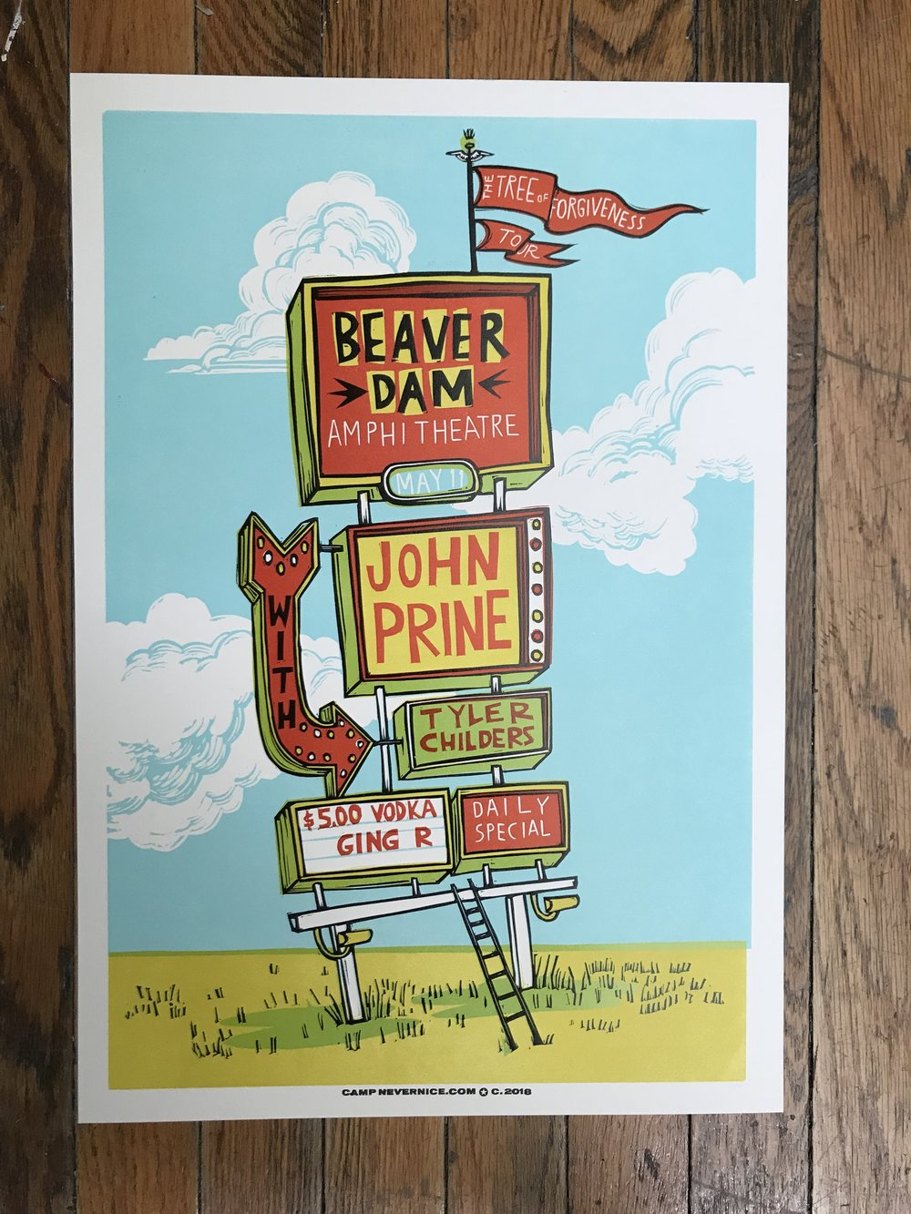 John Prine and Tyler Childers  - Performing at Beaver Dam Amphitheatre in Beaver Dam, Kentucky on May 11, 2018.