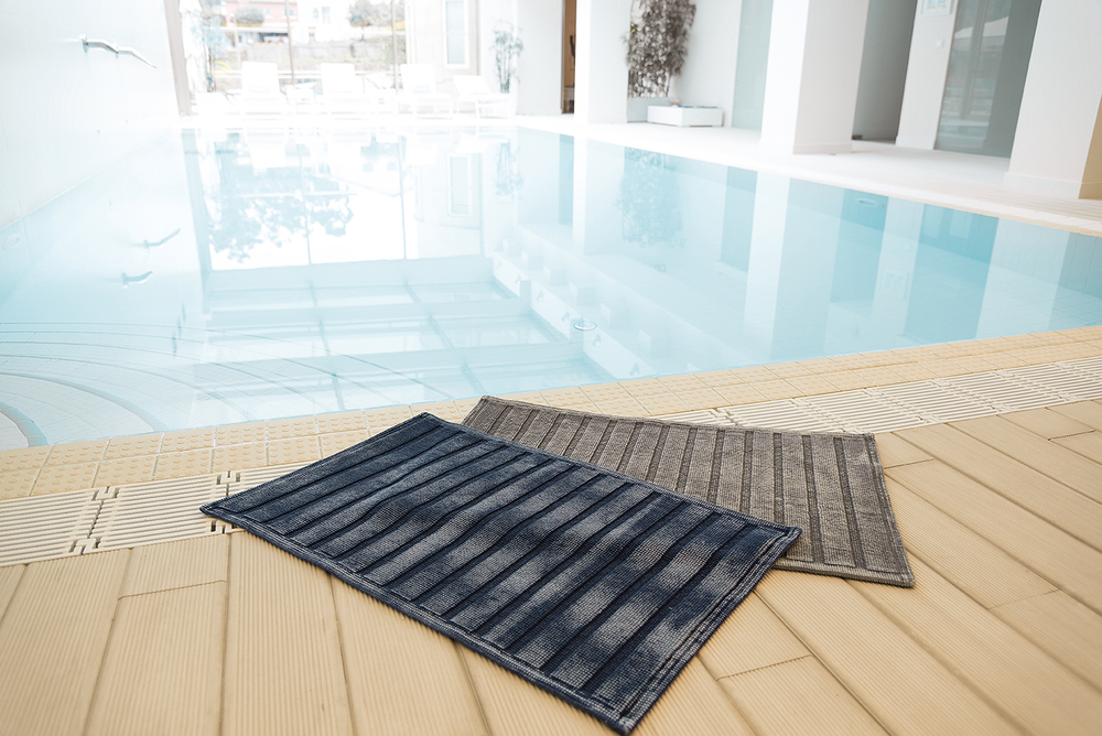 denim bath mat