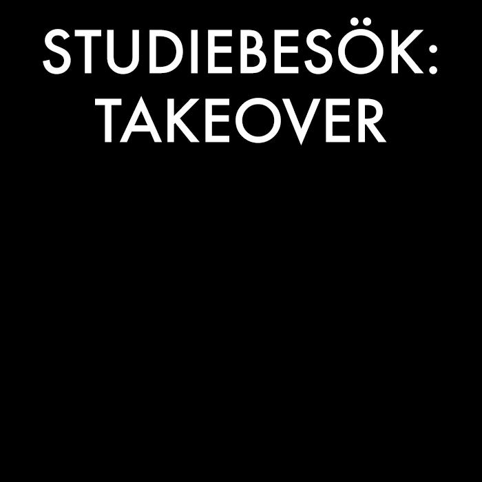 Vi tar vårt pick och pack för att besöka Stockholms mest hajpade företag. Takeover är inte ett vanligt studiebesök, utan mer av ett creative lab hos företag. Ingen anmälan behövs, bara att droppa förbi. Se datum i nyhetsbrevet och på vår Facebook.