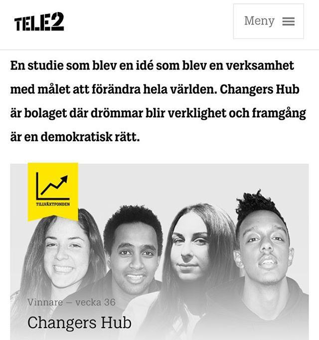 Så @tele2sverige har valt ut oss till deras tillväxtfond! Hur coolt?!? Läs om samarbetet och intervjun med vår medgrundare Siduri i länken i bio! 👆