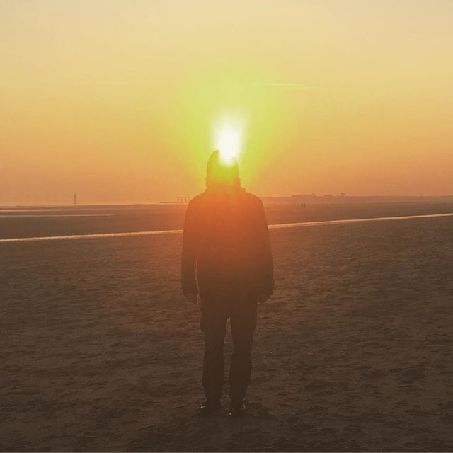 My boyfriend is a human candle #cambersands #winter #sunset #beach #sun