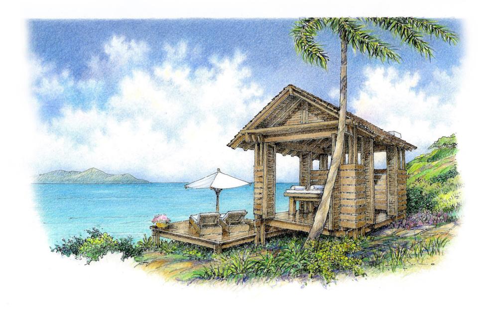massage cabana, st. lucia