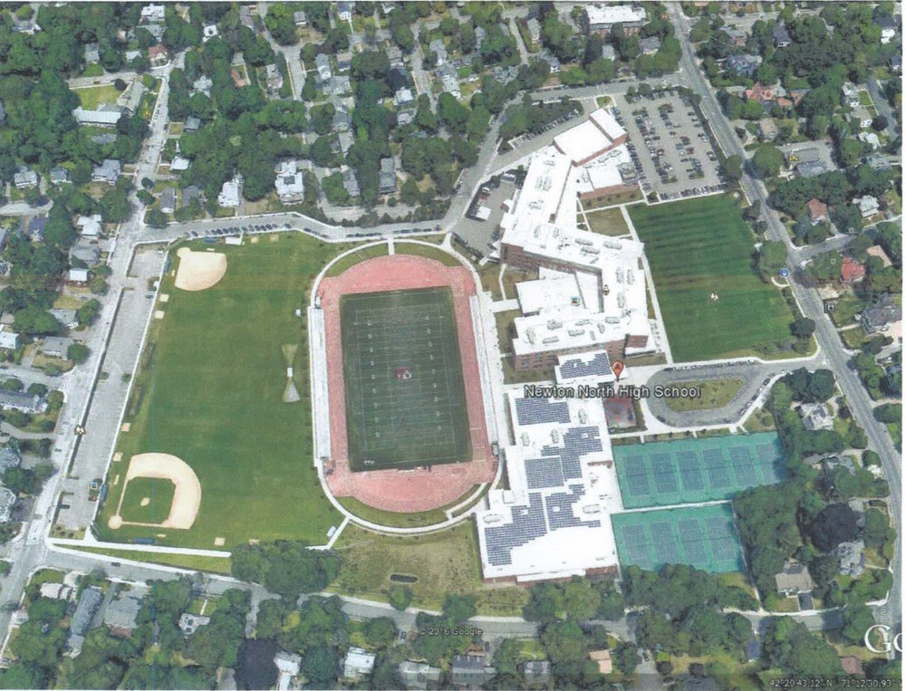 "NHS 2016   In 2009 construction began on the current school, which is spectacular, albeit expensive - close to $200,000,000. It is built across the center of the property, basically from the old football field, through Building 3, to the site of Building 1. In early 2007 I was running my dog on the front fields and ran into a soil surveyor testing the soils. Turns out he was searching for ""underground tunnels"" which he thought were mysterious and odd, but had to be located. I walked him to the approximate locations. He informed me that the tunnels had been simply left, as is, when the buildings were destroyed in '73 and were now filled with water. The tunnels, and all the old debris from our school, needed to finally be removed. The problem was that all the pipes running the length ofthe tunnels (which many/most of us wrote our names/initials on & in etc) were insulated with asbestos and likely other contaminants, as were Buildings 1,2 & 3. Think of that the next time you look through the yearbook and see photos of the white coated pipes in the tunnels & buildings. Full remediation was needed. Shortly thereafter, for approximately one year, hazardous waste trucks with workers in full hazmat gear worked the old building sites and hauled away the remains of our school (and the asbestos). The Football stadium was removed also.   In essence, our beautiful campus became a toxic fill for over 30 years, but now is a wonderfully functioning school that is in use 7 days a week by multiple public and private groups."