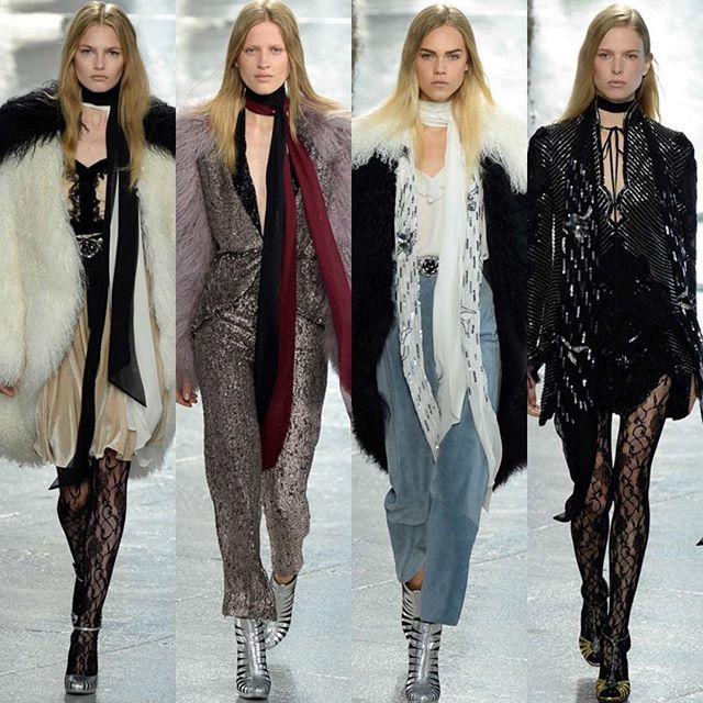 Got our minds blown...again today at @officialrodarte !!! This sister act never disappoints 💗 love you girls #rodarte #followthebuyers #nyfw #spring16 #lace #sequin #fur #shopcurve