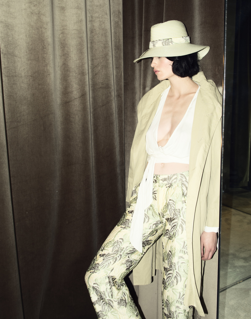 Pants   Baja East   $1295 | Blouse   Bec & Bridge   $180   Jacket   Etoile by  Isabel Marant   $540 | Hat   Baja East   $495