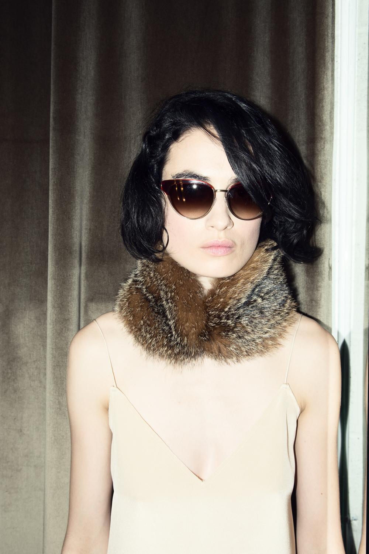 Fur Collar  Emanuel Ungaro    $̶1̶3̶5̶0̶  $675 | Sunglasses  Oliver Peoples $405