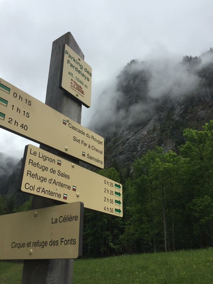 Good signposting on the trails in Haute Giffre