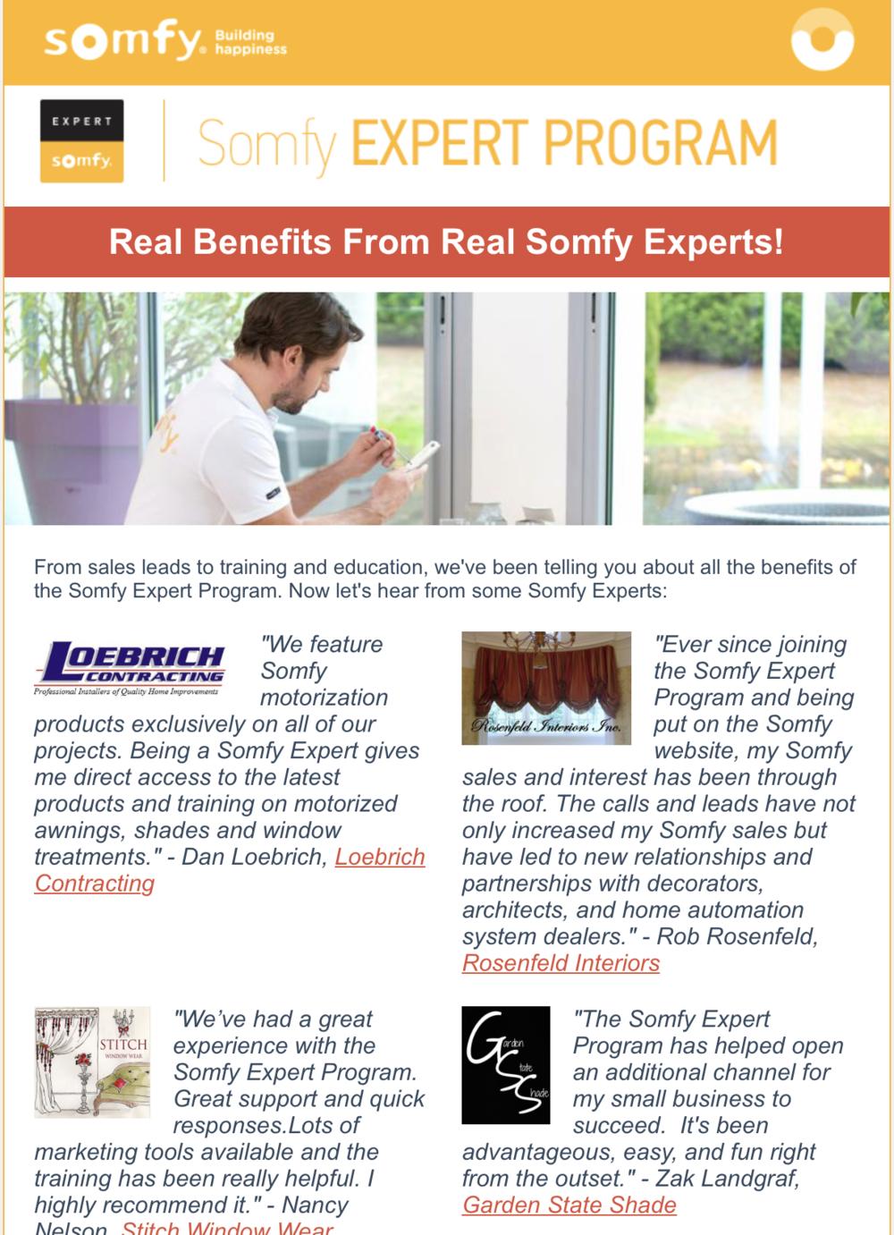 Somfy Expert Program Brochure