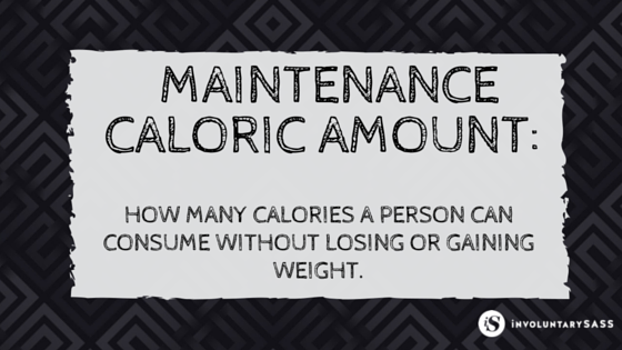 weight loss tip-know what your maintenance caloric amount is