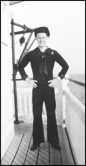 Robert Eugene Whitaker at the lighthouse in the 1940's