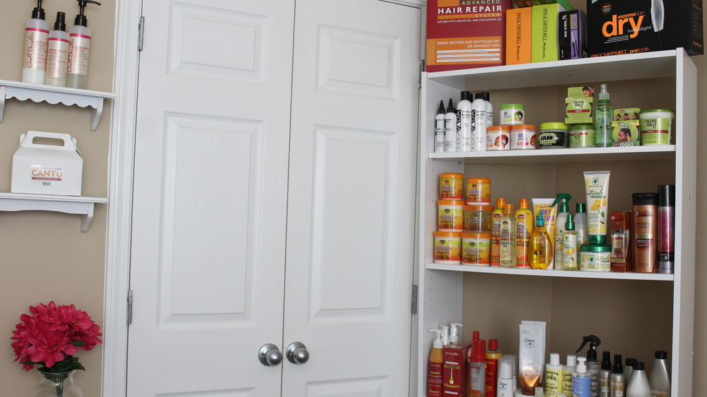 natural hair product organizer