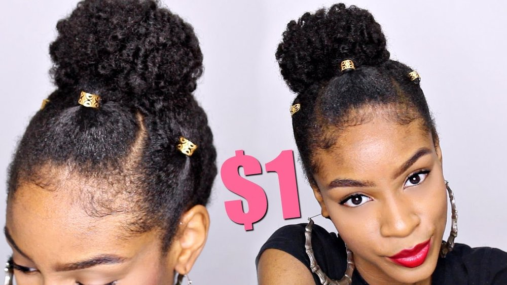 3:56  Natural Hairstyles with Loc Jewelry► Natural Hair Bun