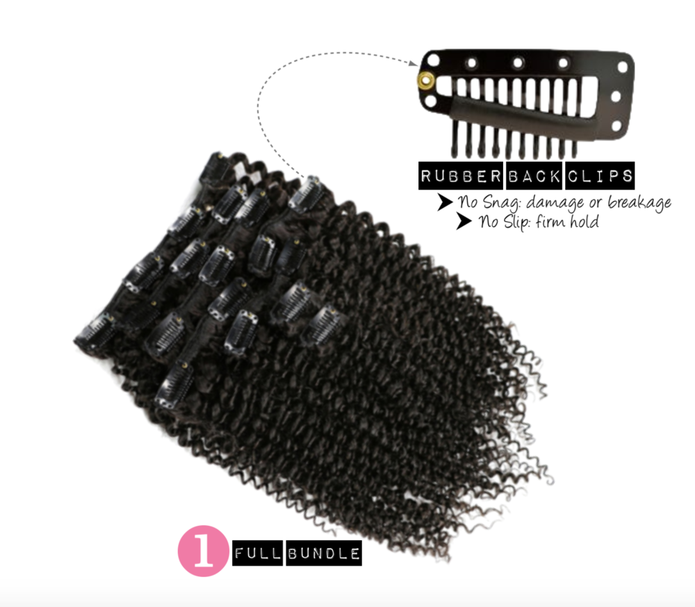 Kinky Curly Clip Ins for natural hair