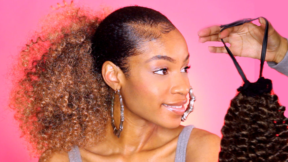 8 Hairstyle: $10 DIY Drawstring Ponytail For Natural Hair