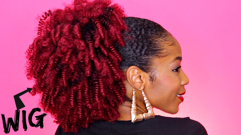 How To Wig To Faux Ponytail Natural Hair Puff Natural Hair Care
