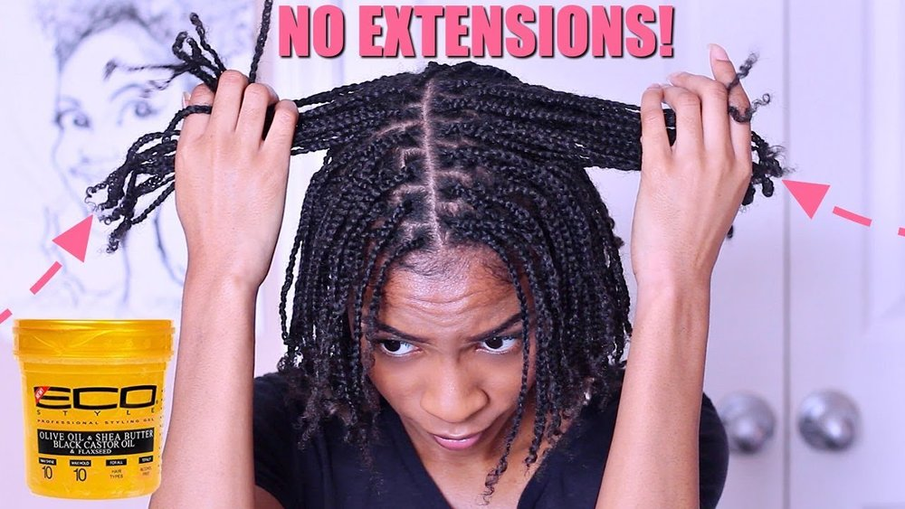 How To Box Braids Protective Style On Natural Hair No Extensions