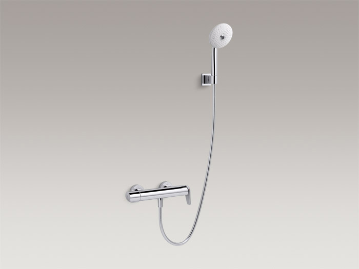 Exposed single-handle shower faucet, with handshower, includes all components    K-97366T-4
