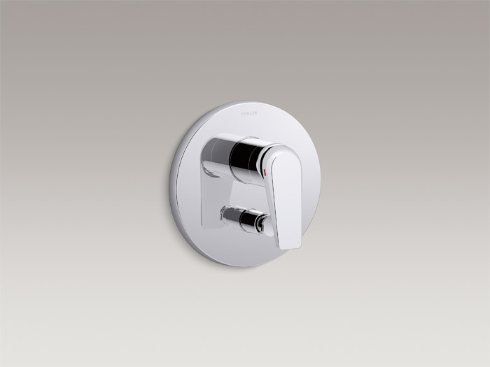 Recessed valve trim with diverter for 40mm valve    K-97487T-4     Specs and Details