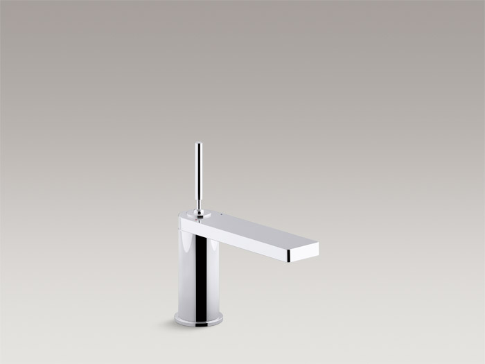 Single-handle bathroom sink faucet with joystick handle    K-73158-4    Without drain    K-73158-4ND    S  pecs and Details