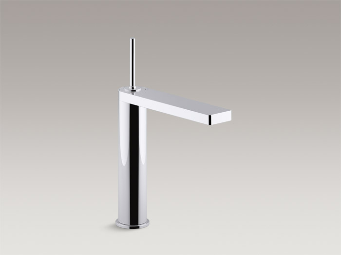 Tall single-handle bathroom sink faucet with joystick handle    K-73053-4    Without drain    K-73053-4ND    S  pecs and Details