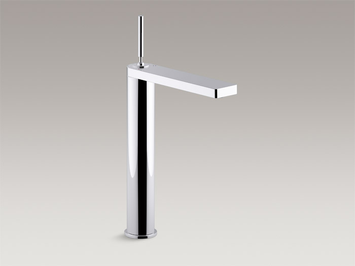 Tower single-handle bathroom sink faucet with joystick handle    K-73057-4    Without drain    K-73057-4ND