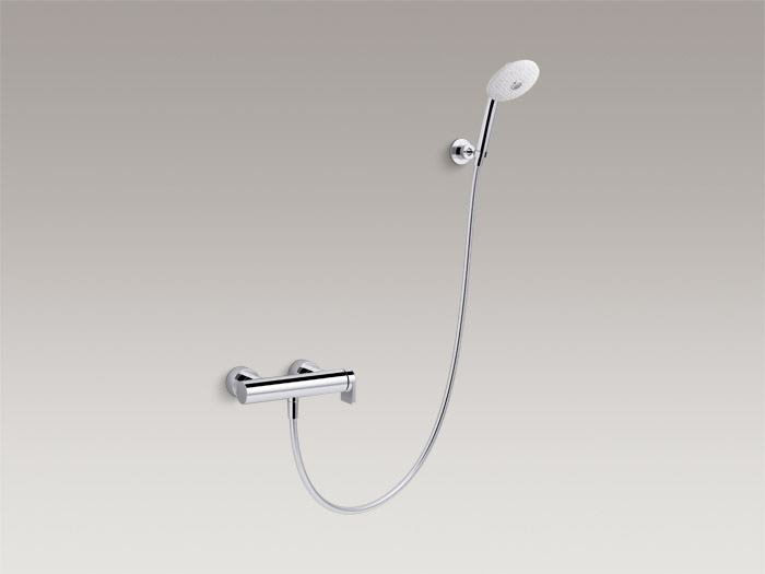 Exposed single-handle shower faucet with handshower, includes all components K-73091T-4