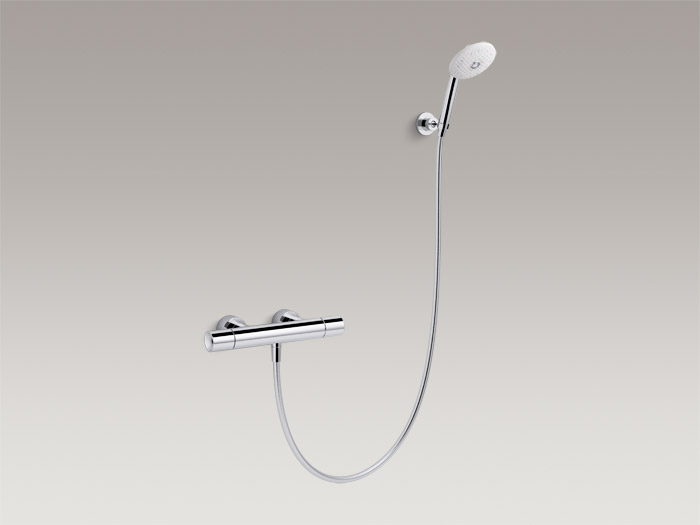 Exposed two-handle shower faucet with handshower, includes all components    K-73164T-7