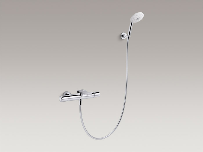 Exposed two-handle bath/shower faucet with handshower, includes all components K-73110T-7