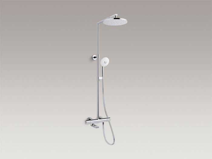 Thermostatic bath/shower column, includes all components    K73111T-7
