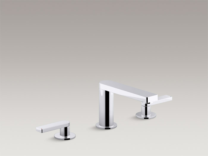 Deck-mount bath faucet trim with lever handles K-73081T-4