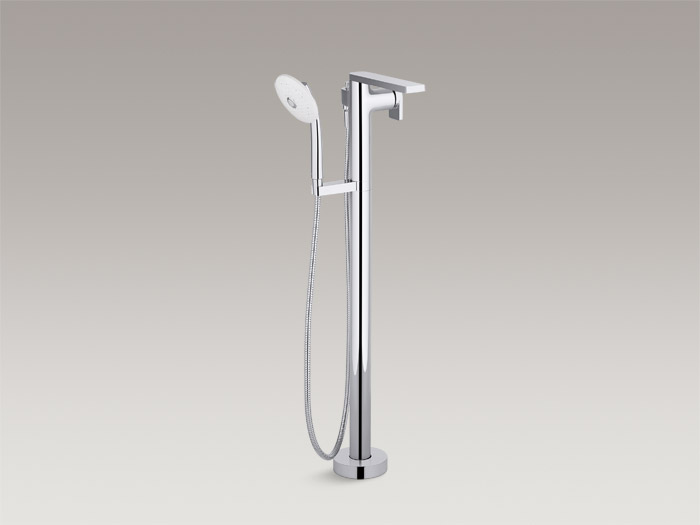 Floor-mount bath faucet with handshower    K-73087-4