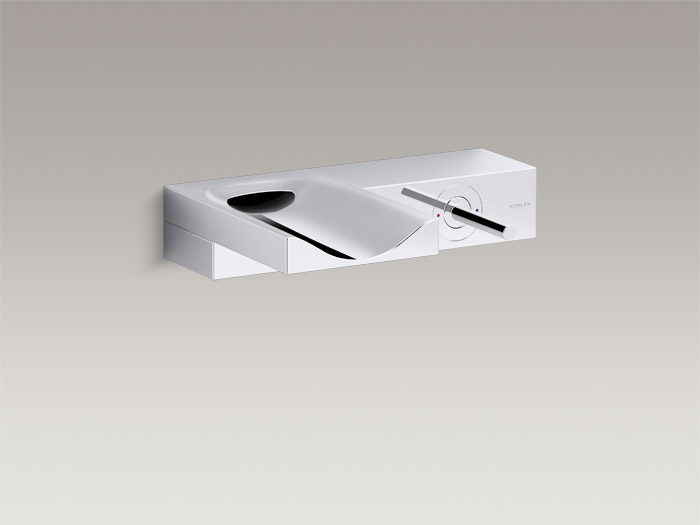 Single-handle wall-mount bathroom sink faucet    K-99876T-4-CP    Specs and Details
