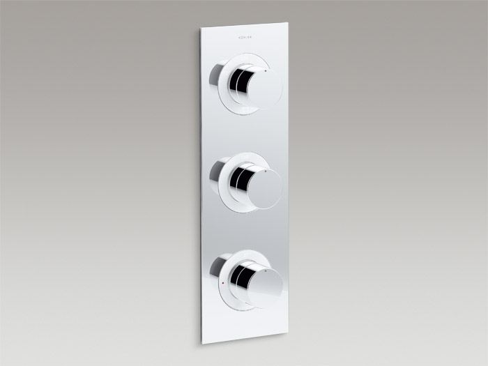 Recessed thermostatic 4-way trim    K-99867T-9-CP    Recessed thermostatic 4-way valve set    K-99871T-9-CP