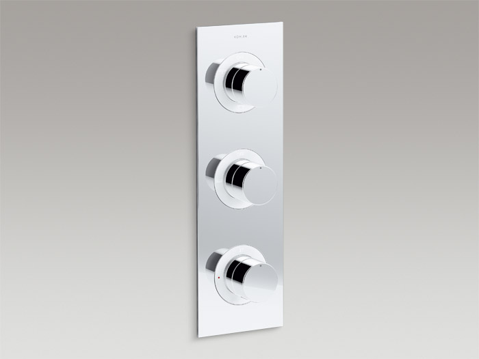 Recessed thermostatic 5-way trim    K-99868T-9-CP    Recessed thermostatic 5-way valve set    K-99872T-9-CP