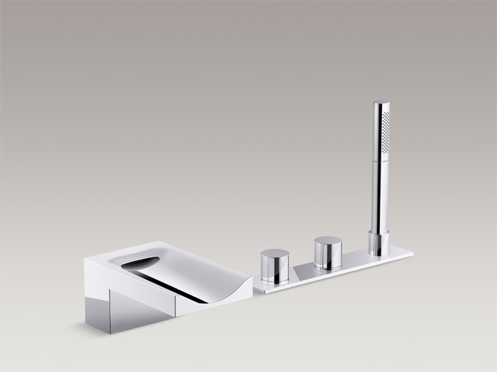 Deck-mount bath faucet    K-99874T-9-CP