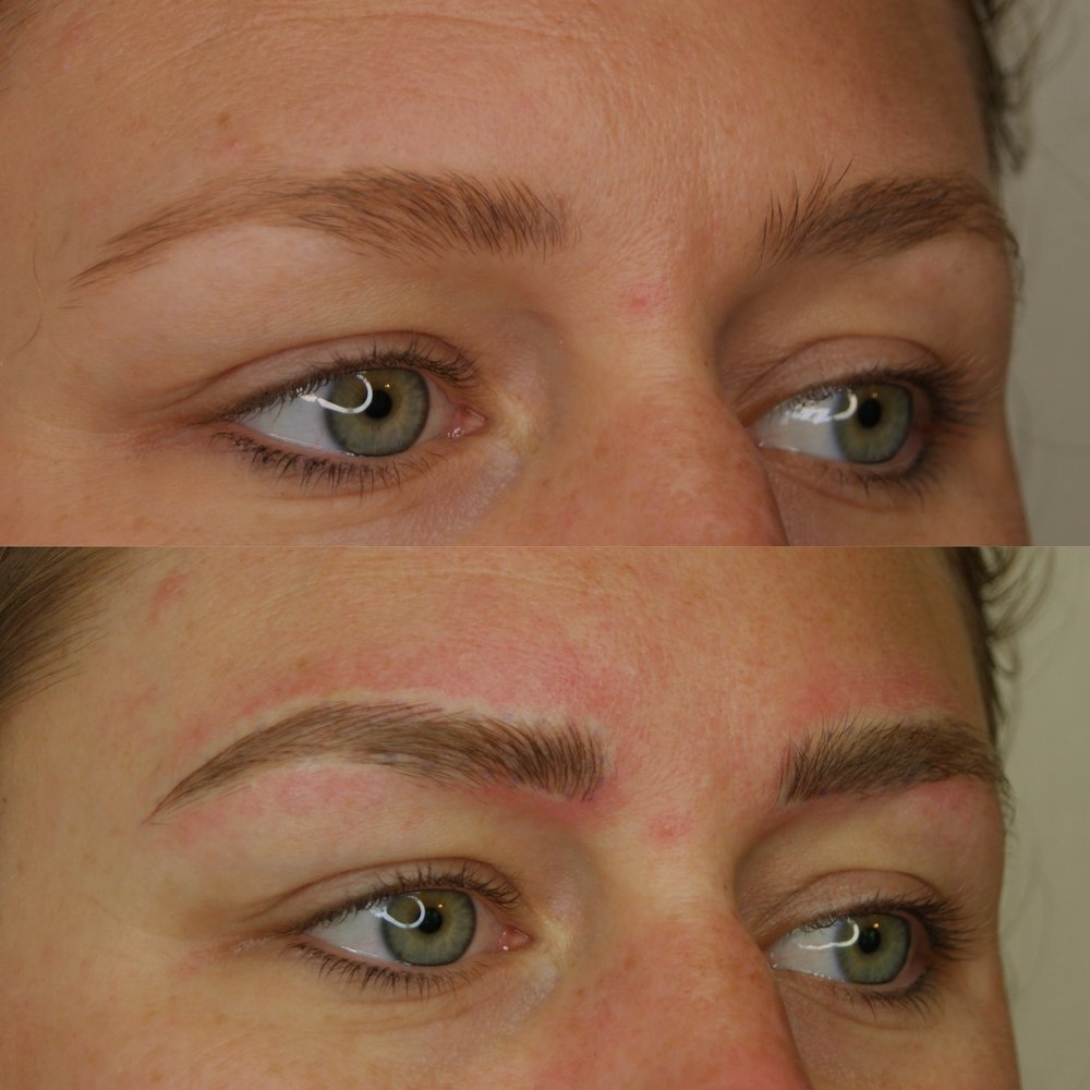 Microblading before and after in Durham North Carolina