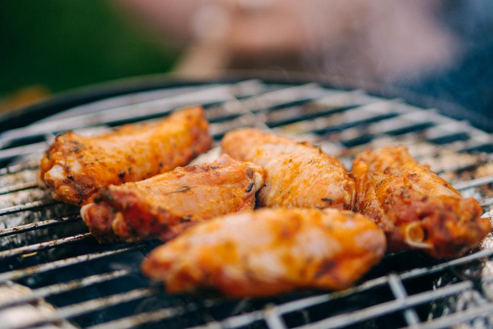 Wings/ailes de poulet au grill/barbecue