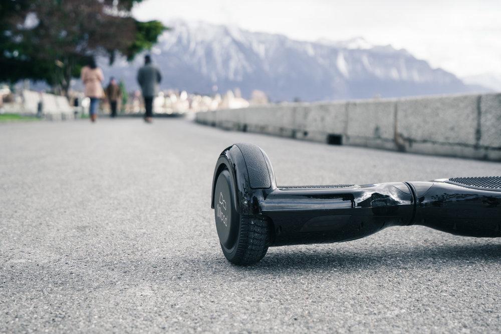 Hoverboard Flowpad dans la ville