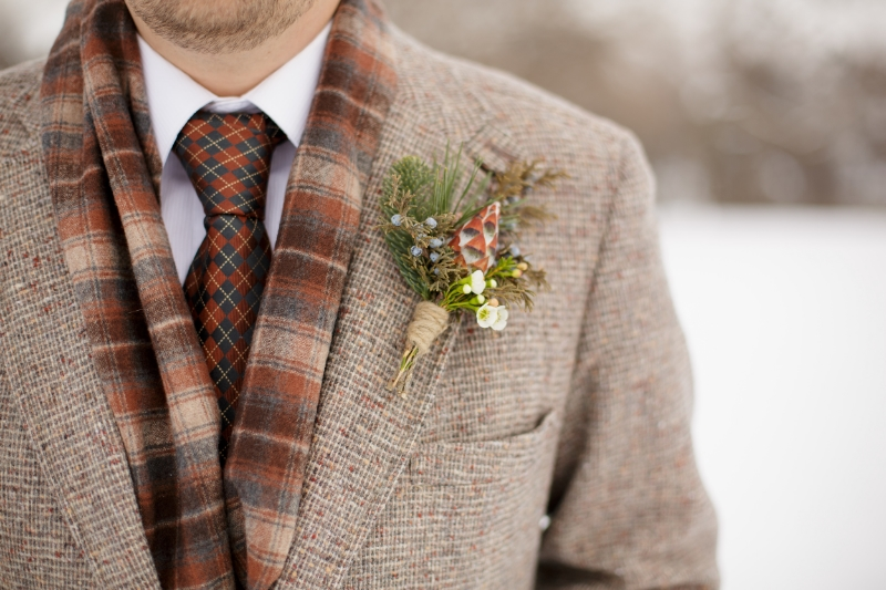 Close up boutonniere