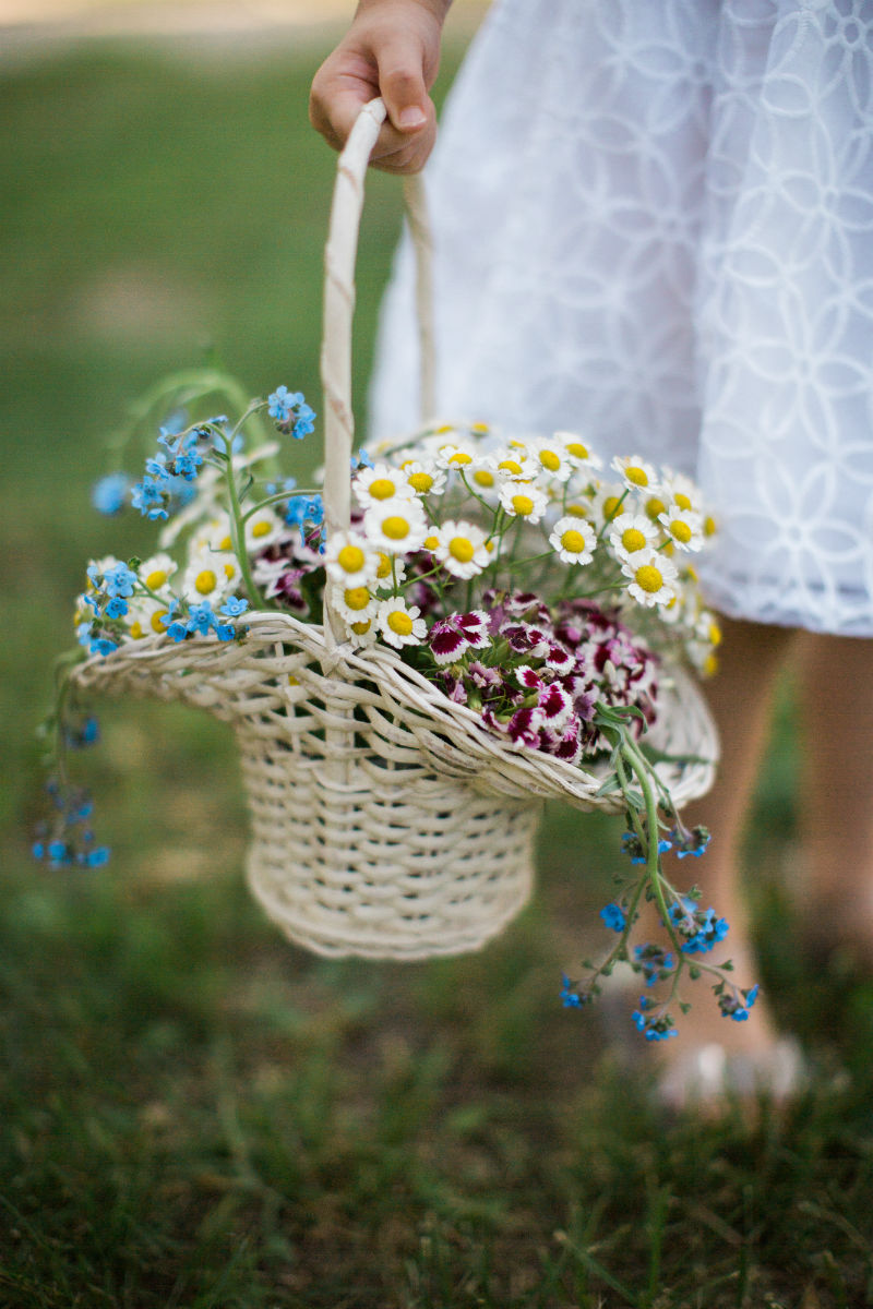 Dutch Floral Photoshoot Flower Girl Basket
