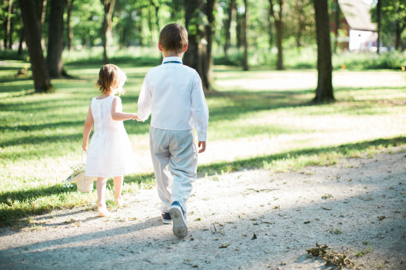 Dutch Floral Photoshoot Flower Girl and Ring Bearer