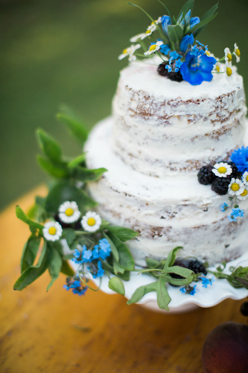 Dutch Floral Photoshoot Naked Cake