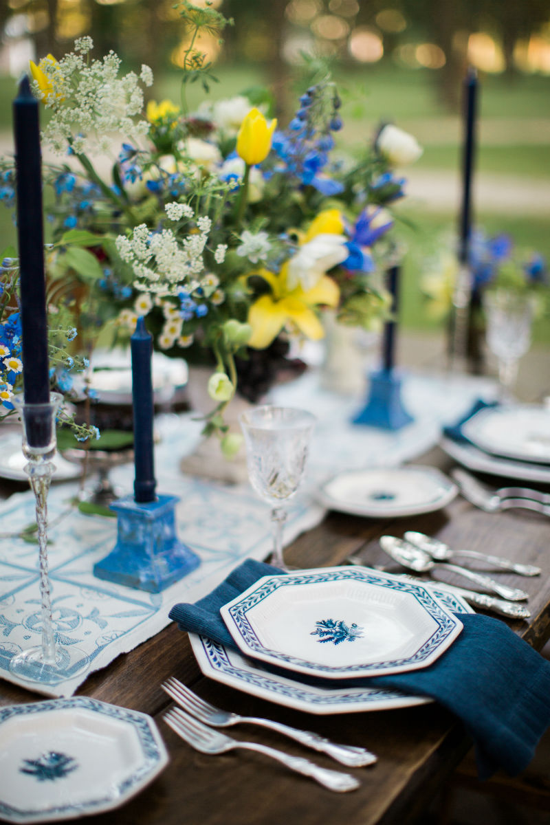 Dutch Floral Photoshoot Tablescape Place Setting