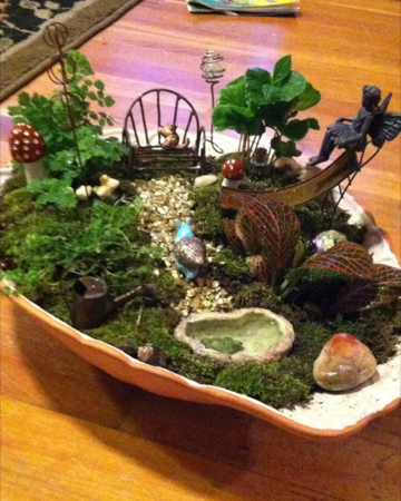 A fairy garden my kids and I made.