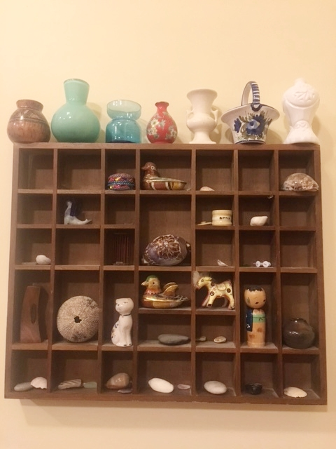 My childhood vase collection.