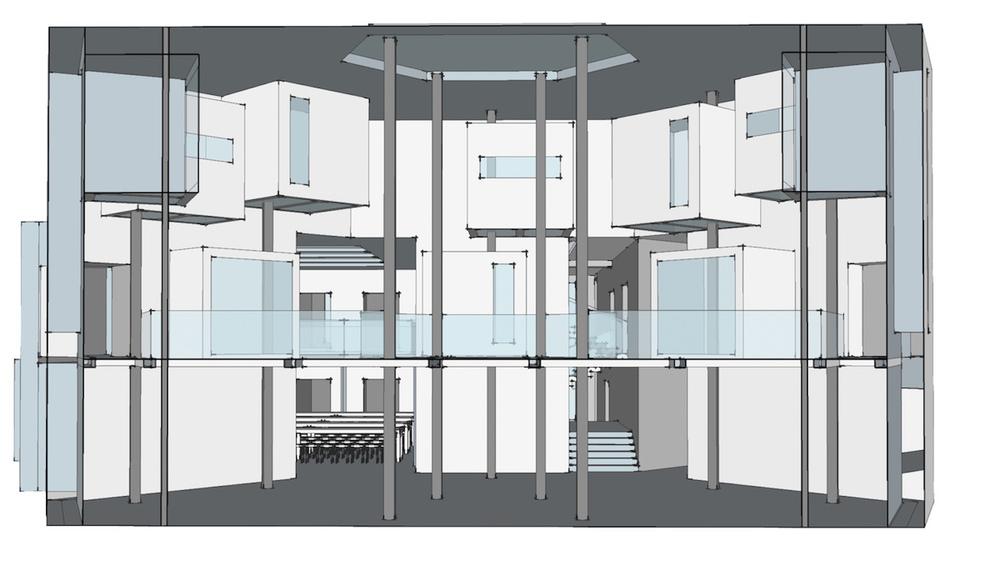 Section af Sketch-up model