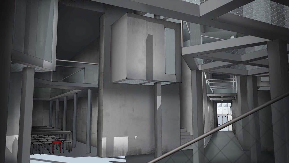 Visual - Kig ned af koridor