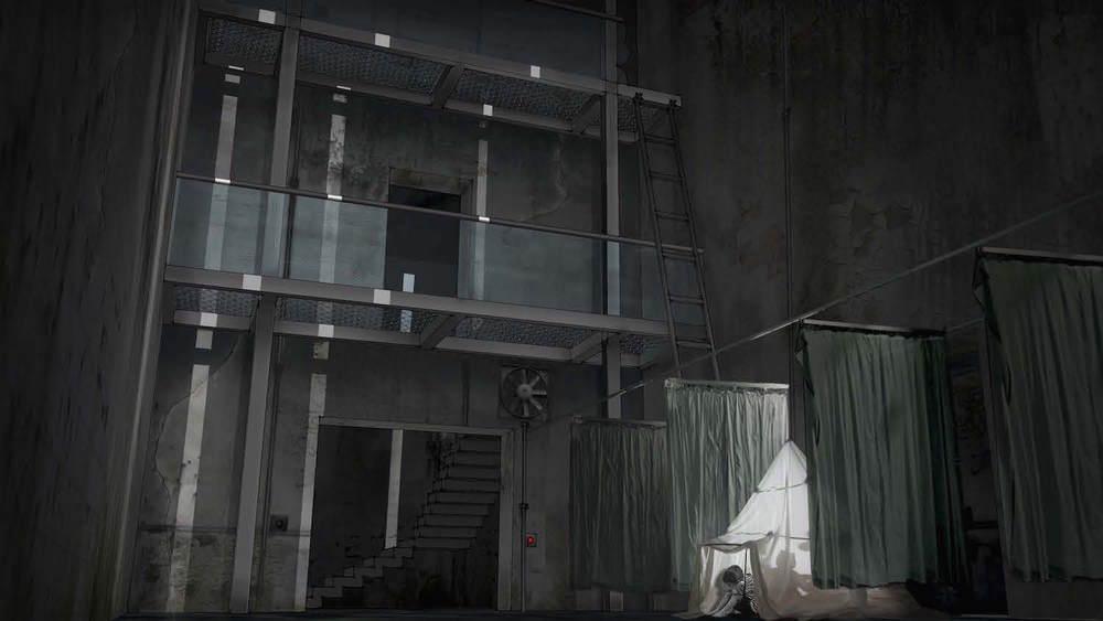 Visual - Den forladte del af Børnehjemmet - gemmested for hovedpersonen.