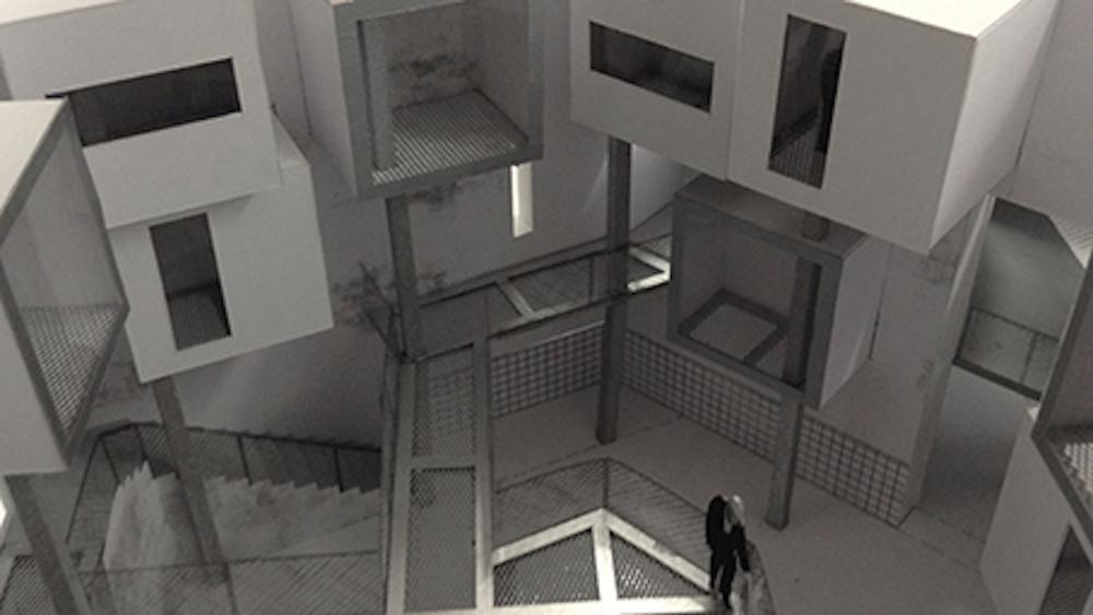 Modelfoto 1:50 - Forhallen