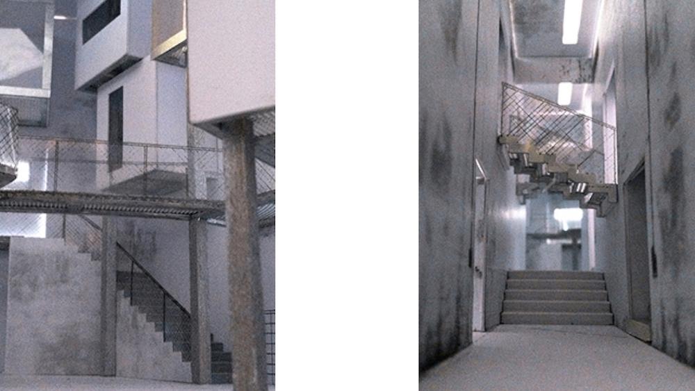 Modelfoto 1:50 - Forhal & koridor